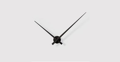 black hands wall clock