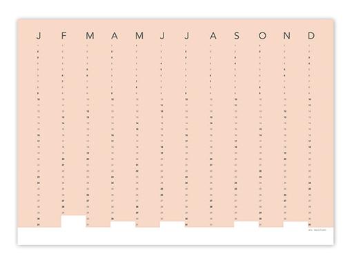 Snug Column Wall Calendar 2016