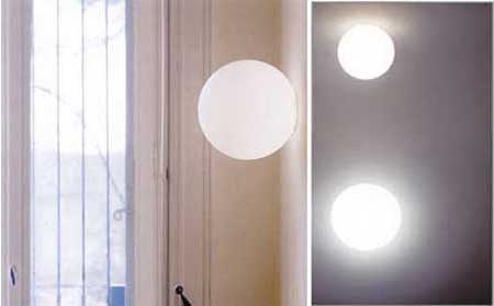 Dioscuri Ceiling/Wall Lamp by Michele de Lucchi