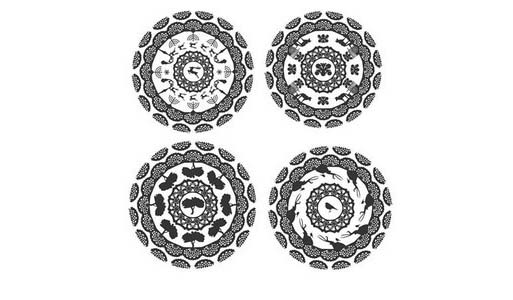 walteria 'hecho en los angeles' porcelain dinner plates