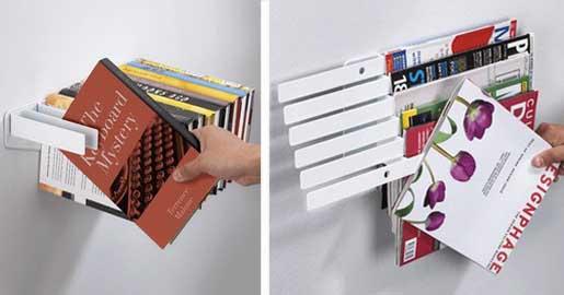 Illuzine Magazine Rack and Flybrary Bookshelf