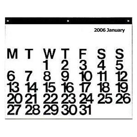 stendig 2006 calendar by vignelli
