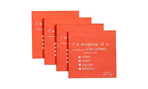 dreaming of a… cocktail napkins