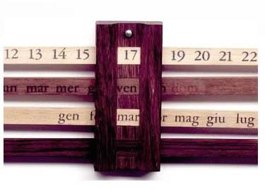 Enzo Mari: Calendario Bilancia Calendar