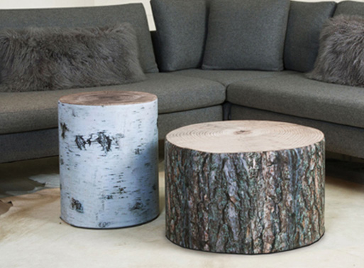 Krone Hanssen Wood Stubbe Poufs