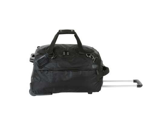 Foldable wheeled duffle black<