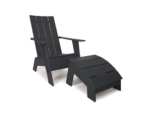 Loll 4 slat Adirondack Chair black