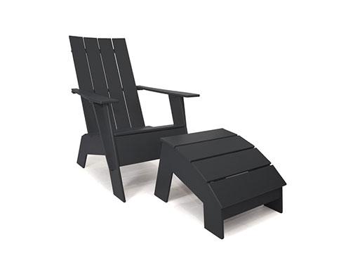 Loll 4 slat Adirondack Chair black