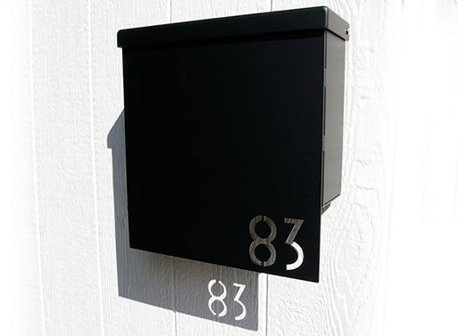 Custom House Number Mailbox