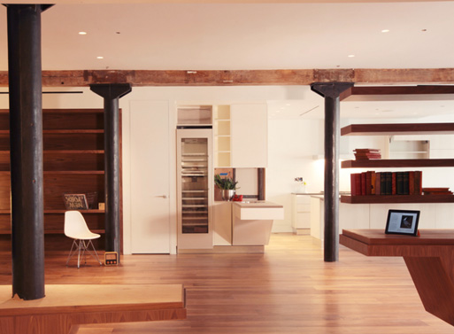 Contemporary design and modern layout in a tribeca loft