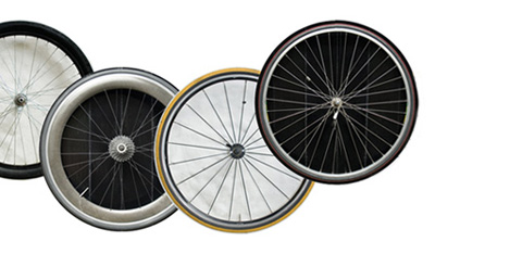 Bicycle Wheel Coasters by Ella Doran