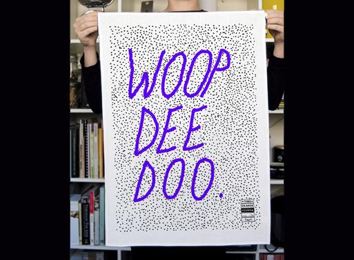 Woop Dee Doo Tea Towel by Tom Polo