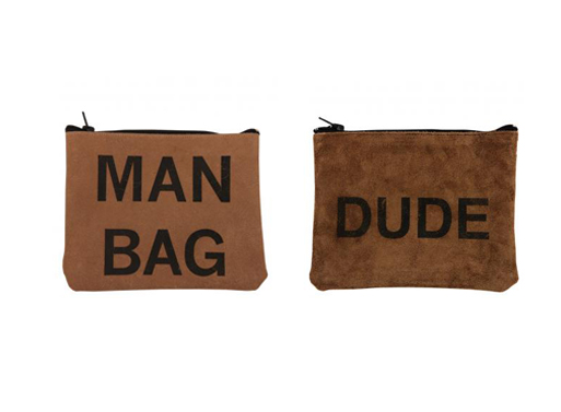 Zip Pouches Man Bag and Dude