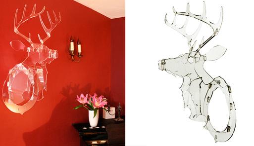 Acrylic Trophy Deer Head