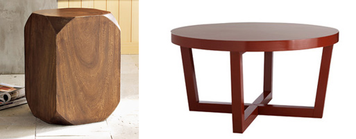 Beveled and Angled-leg Sale Tables