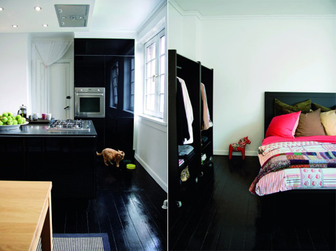 Inspiration: Black Glossy Floors