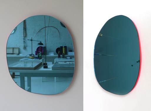 Irregular Round Mirror Pink
