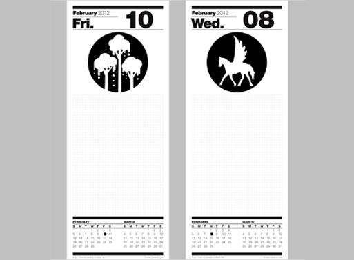 Ryan McGinness To-Do List Calendar 2012