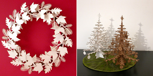 Wreath and Tree Cardboard Puzzles