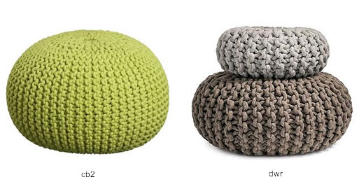 Knitted Pouf from CB2