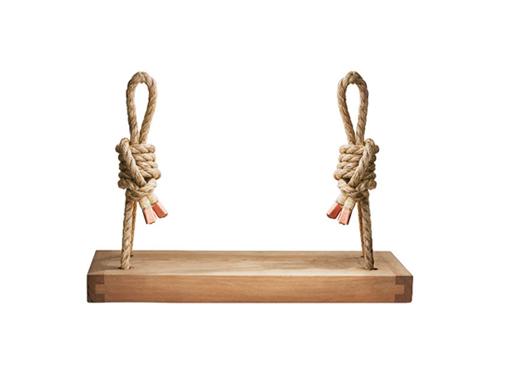 Handmade Cedar Wood Rope Swing