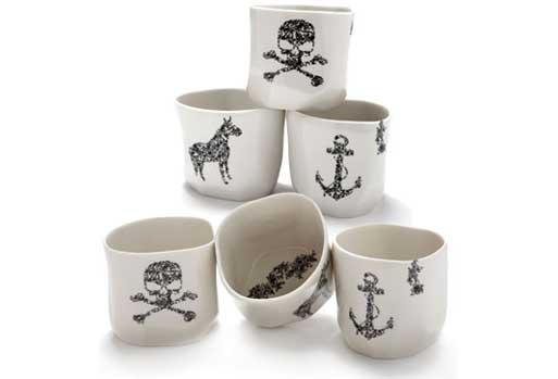Ceramic Cups by Sarah Cihat
