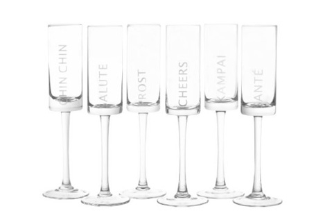 Celebration Champagne Flute, Set of 6