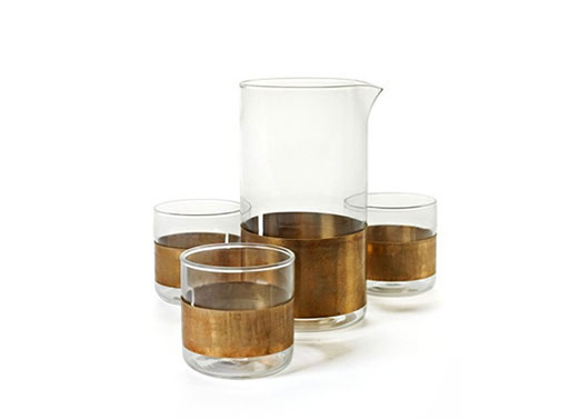 Copper Chemistry Carafe and Glasses