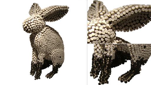 Crayon Rabbit Sculpture