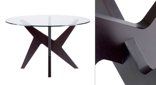 Cross Round Table Glass