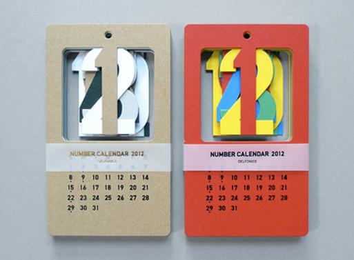 Calendar Number Design : Cut out number calendar — accessories better living