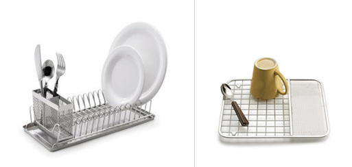 Compact Dish Rack and Sink Mat