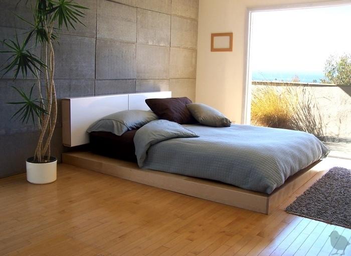LAX Wallmounted headboard & platform bed