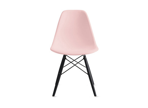 Eames Molded Plastic Dowel-Leg Side Chair DSW