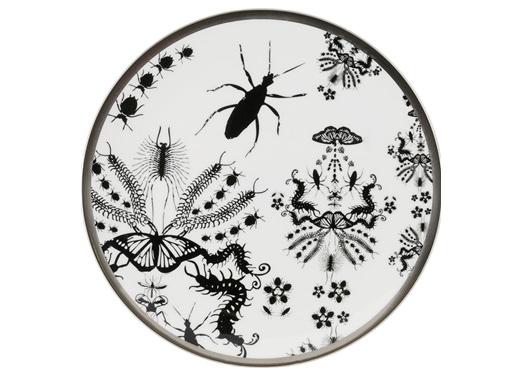 Entomo Black Cake Plate