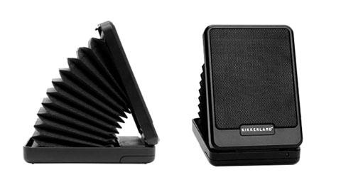 Kikkerland Portable Folding Speaker