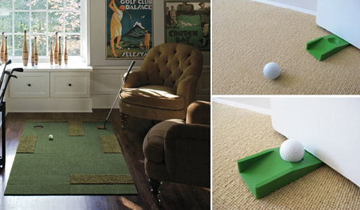 Putt Up or Shut Up Rug Kit and Golfer's Doorstop