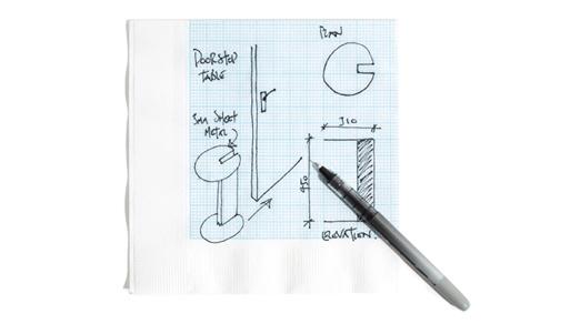 Graph Paper Napkins