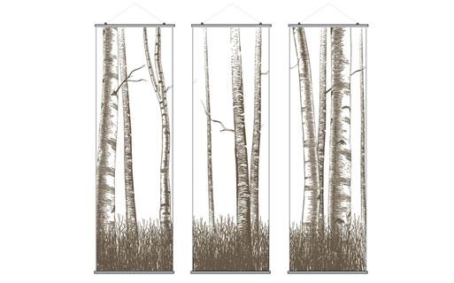 Inhabit Triptic Slats Hanging Panels