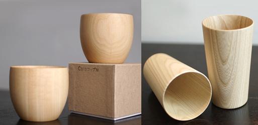 Cara and Kami Wood Cups