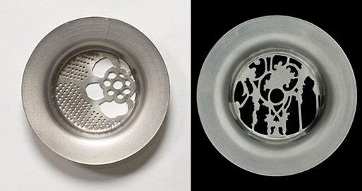 Ornamented Metal Lace Drain