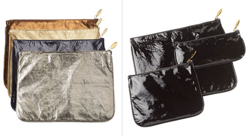 Leather Zip Pouches