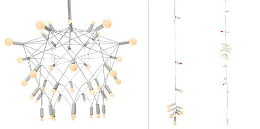 Patrick Townsend: Orbit Chandelier and String Lights
