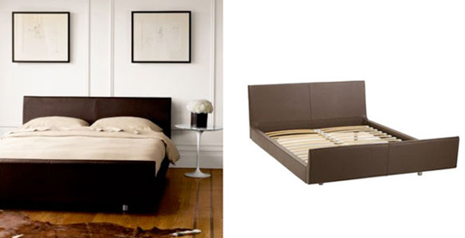 Loja Leather Bed
