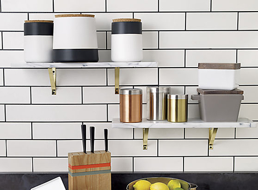 Marble wall shelf