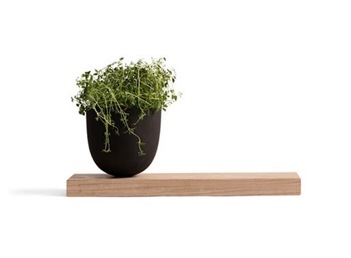 Menu Grow Pot with Wooden Board