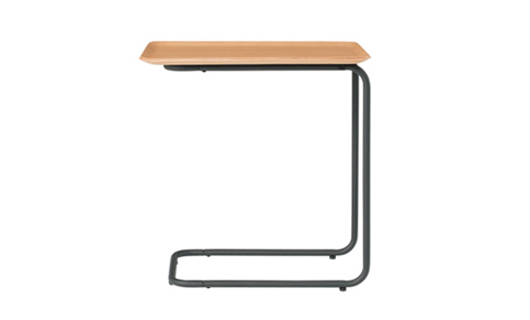 Steel Pipe Side Table – Natural