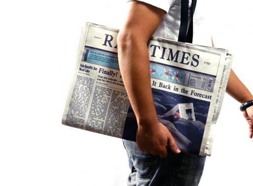 Newspaper for Rain Bag