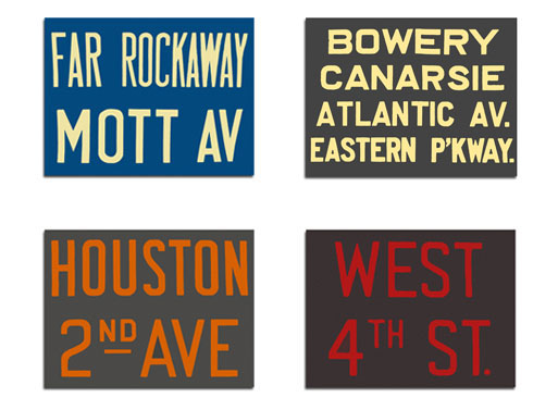 Subway Roll Signs
