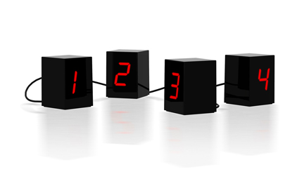 Open Edition/Untitled (Numbers) LED Clock